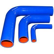 Патрубок силиконовый угловой 90° ф 55мм 150х150